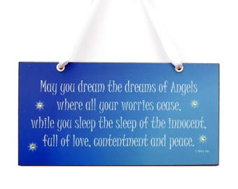 May You Dream The Dreams Of Angels - Night Time Blessing By Mary Jac 677-3