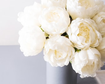 White peony etsy 3pcs ivory white peony peonies silk flowers silk flower artificial flowers for diy wedding bridal bouquet boutonniere corsage home decor mightylinksfo