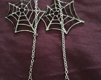 Large spiderweb earrings