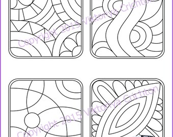 Strings for drawing zentangles. Tangle pattern printable string, PDF. String art template