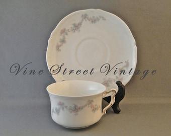 Vintage Bavaria Oberfalz China Tea Cup and Saucer