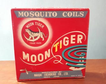 Vintage Moontiger Mosquito Coils Japan Original Packaging