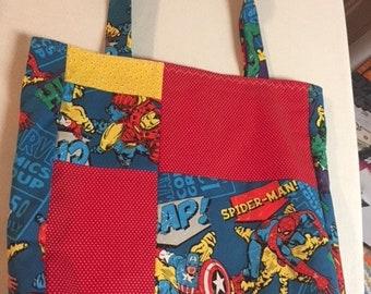 Marvel Comics quilt style handmade bag