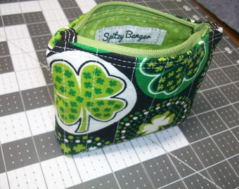 Four Leaf Clover - Zip Wallet - Luck of the Irish