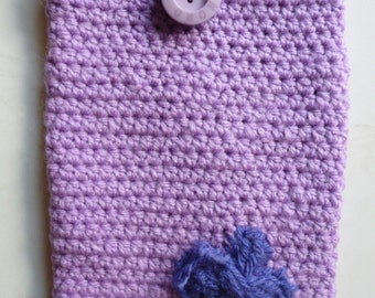 Kindle Cover,custom e reader cover, crochet device cover, tablet case, Purple Butterfly Kindle Cover, crochet kindle cover, knitted cover