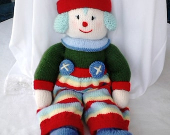 Doll, Knitted, Clown