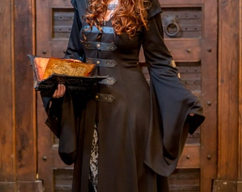 Manteau Sortilege clothing coat - Steampunk coat for LARP, victorian costume and cosplay
