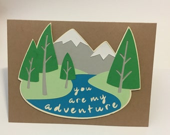 You Are My Adventure Anniversary Card