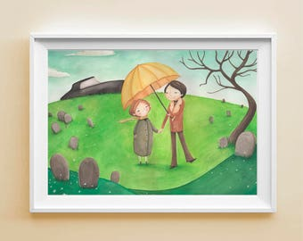 """Art Print """"Harold&Maude"""" - Poster illustration from the movie """"Harold and Maude"""""""
