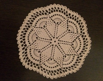 Crochet vintage doily in cream