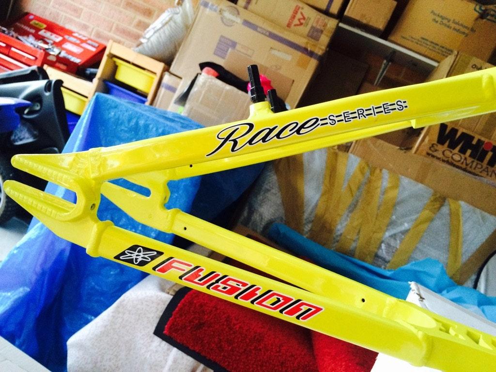 BMP 188 - Haro Fusion Race bicicleta tubo de la serie marco etiqueta ...