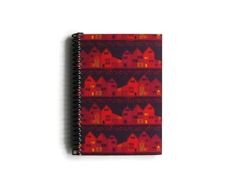 Old Town Notebook A6 Spiral Bound - Pocket Journal, Back to School, Blank Sketchbook, Pretty, Paper Goods, 4x6 Inches, Gifts Under 20