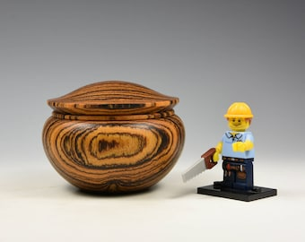 Bocote wooden box, fathers day gift idea, wood turning, fromthetree
