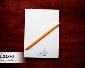 Meditating Yogi Personalized Notepad