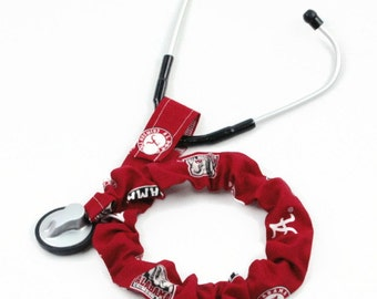 Stethoscope Cover, Nursing Student, Stethoscope Accessories, Student Nurse, Scrubs, Alabama Crimson Tide Team Sport Fabric, College Football