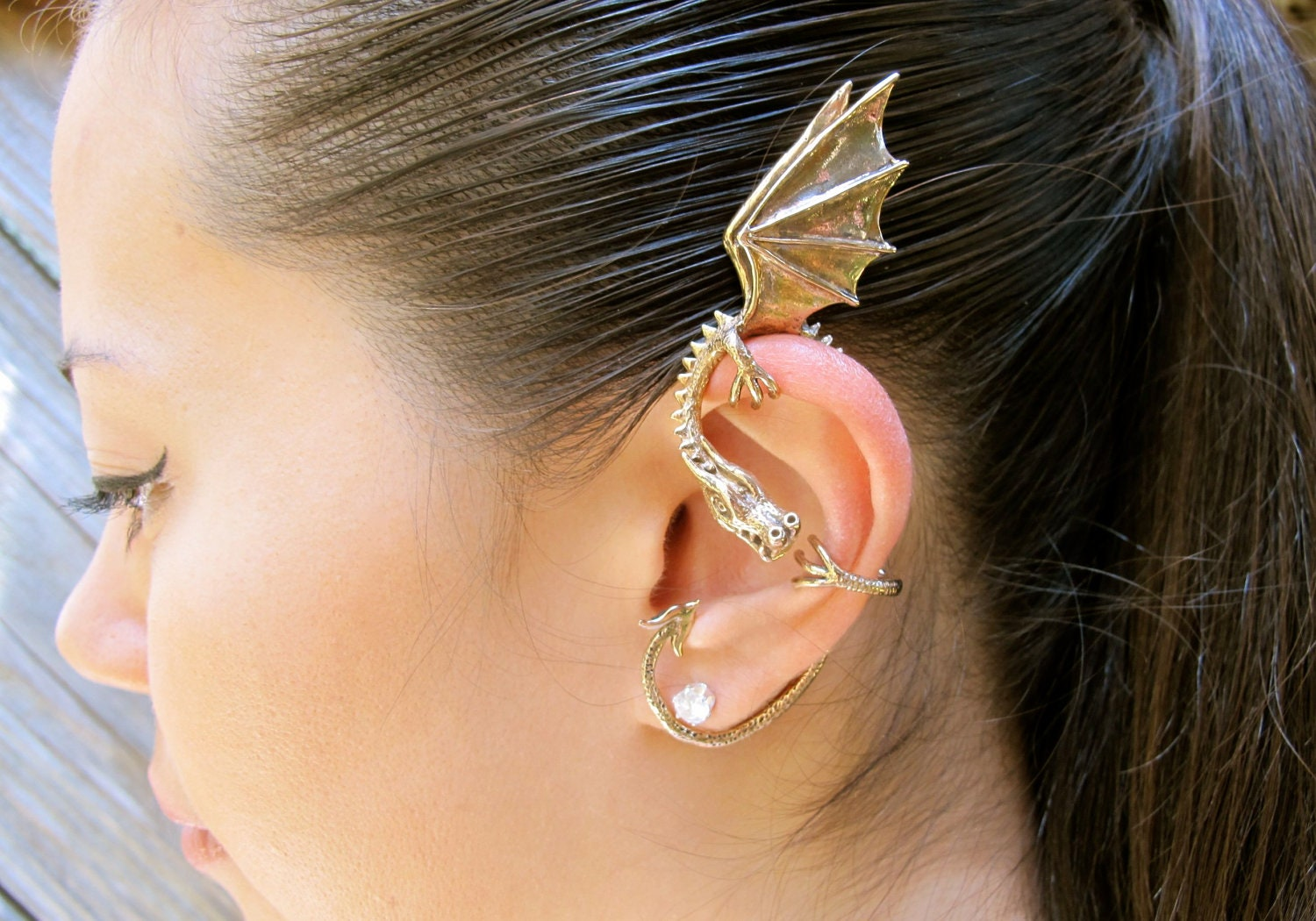 leaves from clip rock earring product cuff women tassel chain metallic ear earrings com dhgate dangle punk wrap
