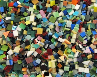 Mosaic Tiles 2000 Hand Cut Stained Glass Tiny Tiles 2 Full Pounds