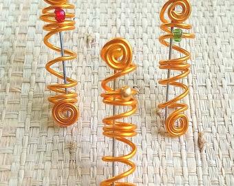 Set of 3 jewels for locks, braids, twist