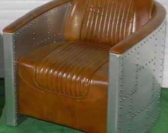 Handmade Aviator Leather Chair Aviator Arm Chair Aviator Desk Chair