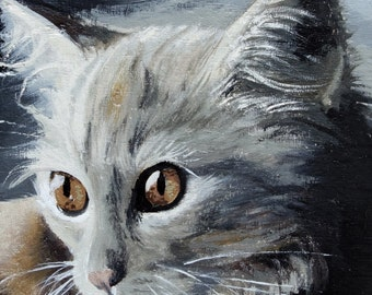Cat Giclée Print from Original Oil Painting Miniature