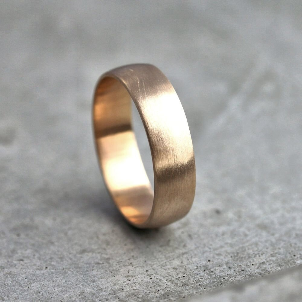 zoom - Mens Gold Wedding Ring