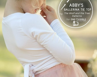 Abby's Ballerina Tie Top - PDF sewing pattern
