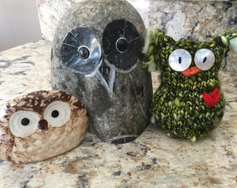 Oscar the Owl Hand-knit......friends not included!