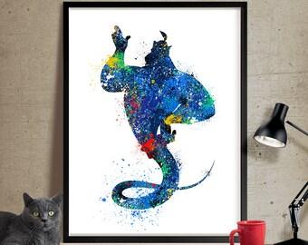 Nursery Decor, Kids Room Art, Disney Print Watercolor, Disney Aladdin Poster, Nursery Wall Art Poster (57)
