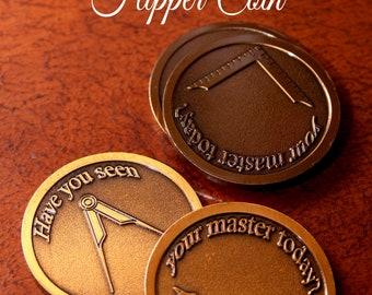 Master Mason Flipper Coin