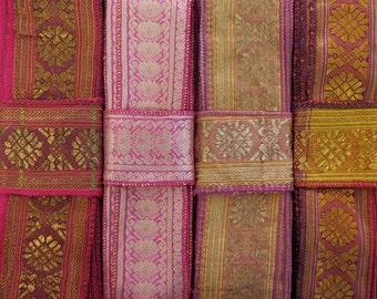 Red and Pink Sari borders, SR214
