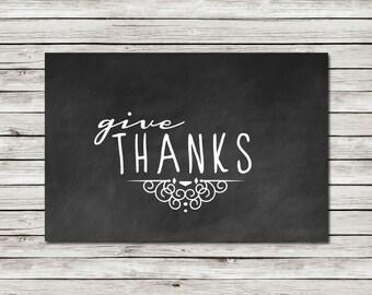 Give Thanks - Wall Art - Printable