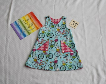 Reversible Pinafore - Size 3T