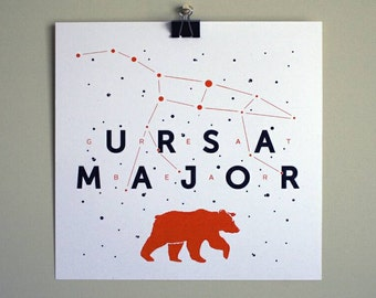 Ursa Major Constellation Astronomy Print