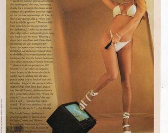 Pamela Anderson Full Page Magazine Photo US Magazine September 1994
