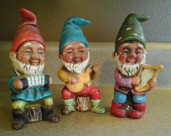 vintage paper mache gnomes antique paper mache gnomes