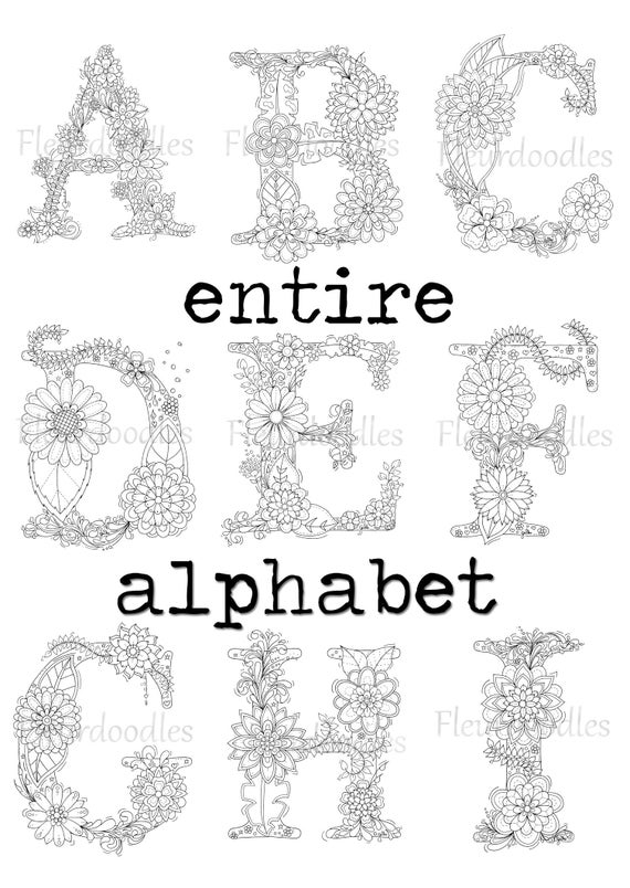 whole alphabet coloring pages - photo#21