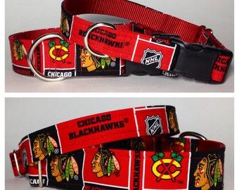 Chicago Blackhawks dog collar