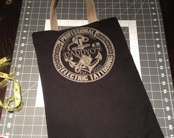 Upcycled Daddyo's tattoo Tshirt Bag