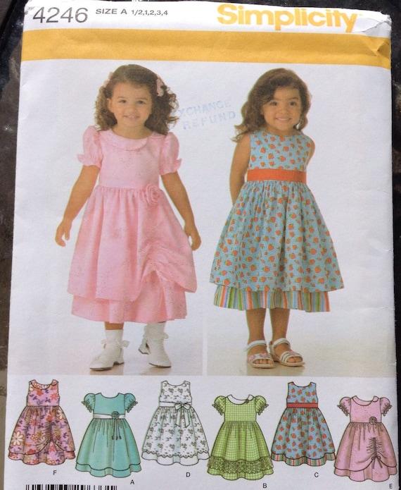Los niños vestido de lujo patrones de costura simplicidad