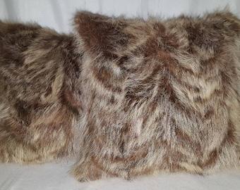 Pair of Raccoon Pillows