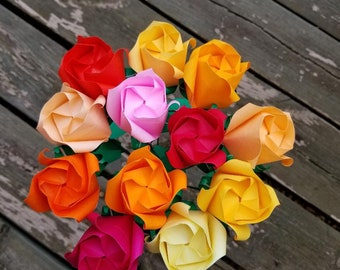 Origami flowers - Burst Of Color Roses