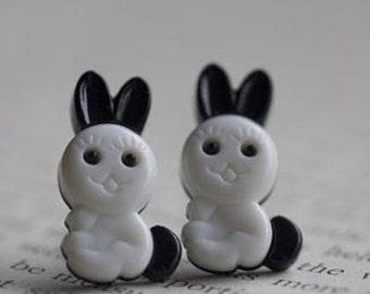Funny Bunny Stud Post Earrings