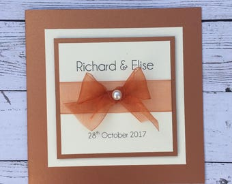 Eve - Handmade Wedding Invitation Available in Many Colours