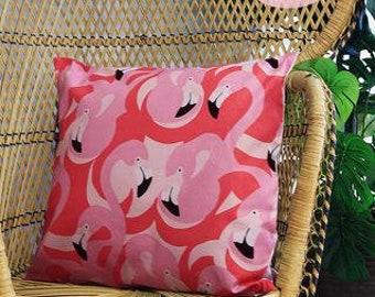 Pink Flamingo Retro Cushion