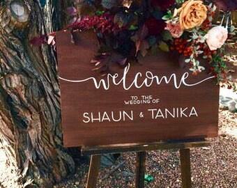 Custom Hand Painted Wedding Signs