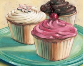 Three Cupcakes - Cross stitch pattern pdf format