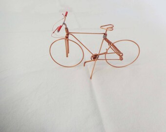 Miniature handmade wire bike.