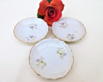 Antique Butter Pats | Rosenthal China | Small Butter Dish | Butter Holder | Tea Light Holder | Antique Dinnerware | Set of 3