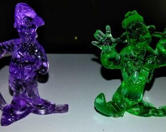 1980's Plastic Clown Figures