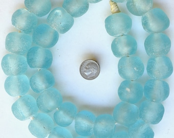 26-28 Inch Strand Extra Large Sized African Recycled Glass Beads from Ghana - Sea Glass Beads - Various Colors Available